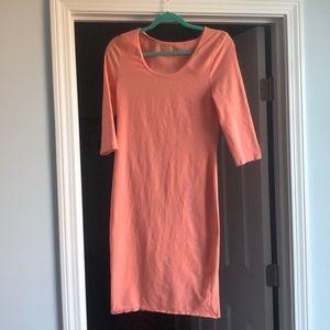 Maternity Pink blush long sleeve dress